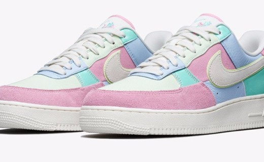 Nike Air Force 1再推新款,马卡龙配色超粉嫩