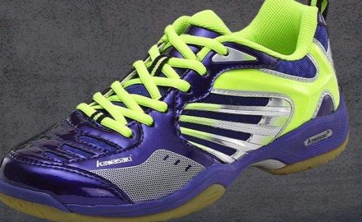 川崎 K-310羽毛球鞋:流线设计透气不捂脚,橡胶大底防滑耐磨