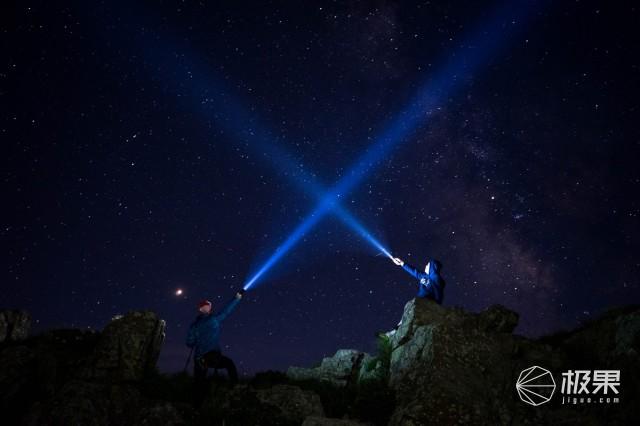 可旋转灯头设计,让你照明无死角,耐朗充电强光手电筒B70测评
