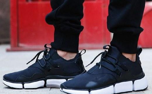 耐克POCKETKNIFE DM休闲鞋 :黑白经典配色,分体式鞋底缓解疲劳