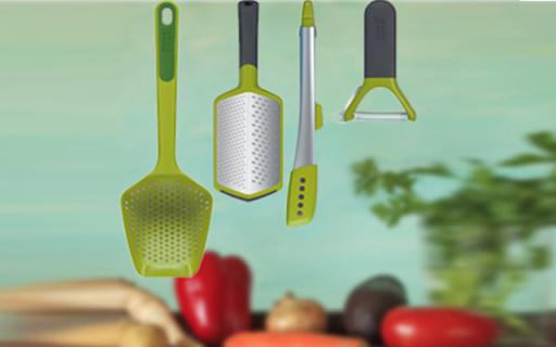 Joseph Joseph厨房小工具4件套:食品级材质通过欧盟认证可机洗