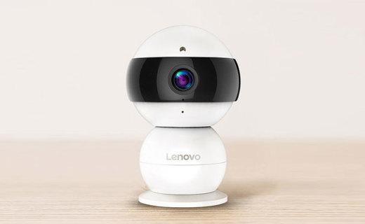 联想Snowman智能摄像头:呆萌雪人造型,高清摄录一键上传APP