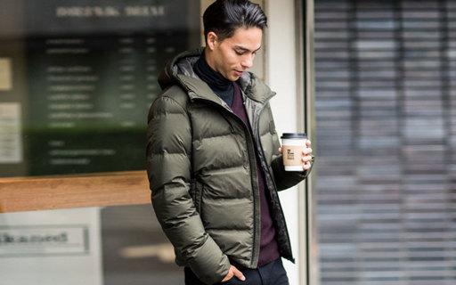 优衣库无缝连帽羽绒服:90%白鸭绒,防水防风更保暖