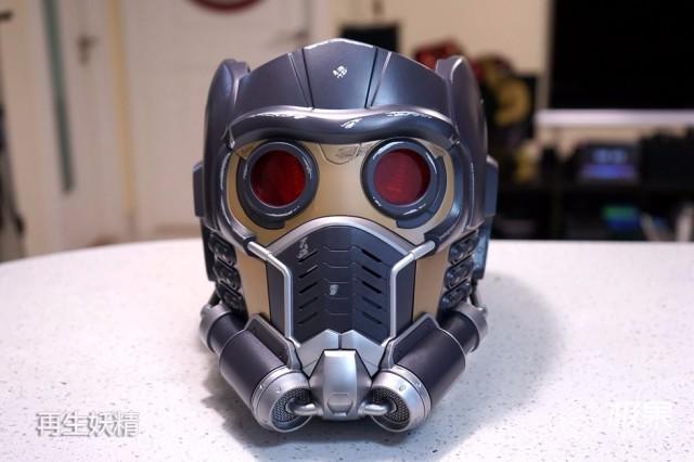 黑色透明亚克力板_银河护卫队 Star-Lord 星爵可穿戴头盔 开箱把玩-极果