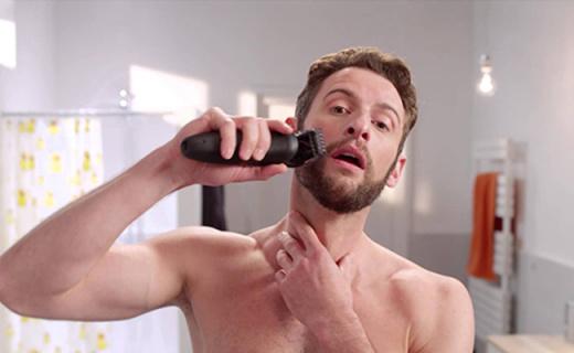 飞利浦HC5450毛发修剪器:钛合金刀头锋利坚固,理发剃须两用