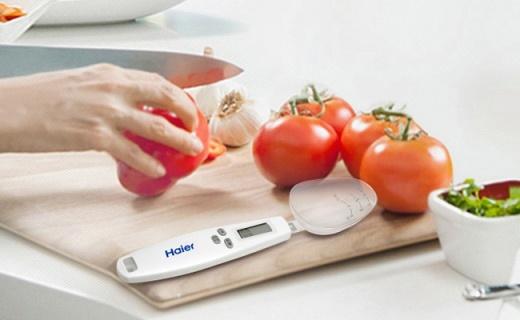 海尔电子量勺:准确把控食材用量,好味道分毫不差