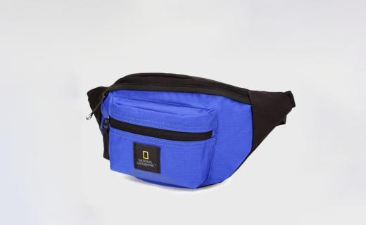 国家地理N01101-45中性腰包:环保面料安全防泼溅,丰富细节功能