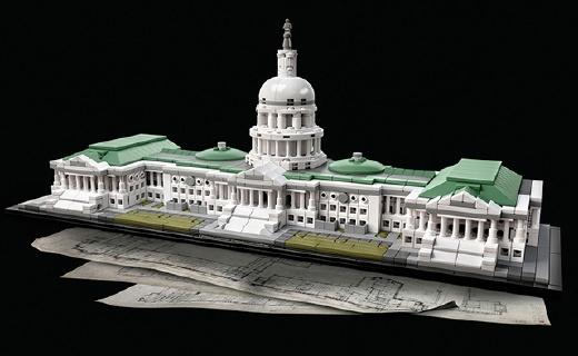 乐高建筑新品,还原度超高的美国国会大厦!