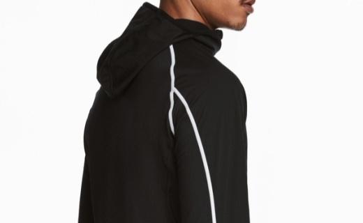 H&M春季新款跑步外套:防风面料舒适柔软,拼接款运动时尚
