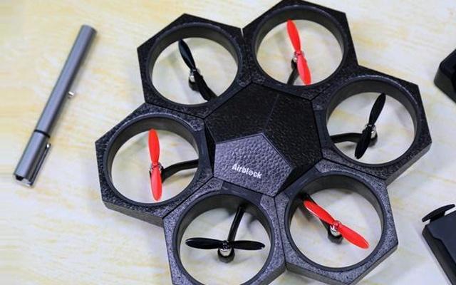 会飞的机器人,四种变身形态比乐高好玩百倍 — Airblock积木无人机体验 | 视频