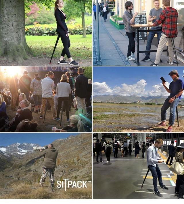 丹麦SITPACK便携式折叠椅凳子
