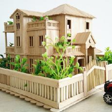 就是用这些没用的木条,给你做了一个豪华别墅