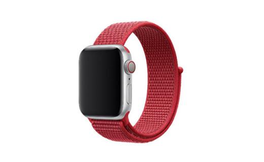 苹果发布回环式Apple Watch运动表带,大红配色阳光气息十足