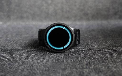 Ziiiro超酷夜光手表,极简设计连表针都没有