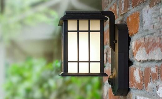 Kuma智能门灯:可连WiFi手机远程操控,内置摄像头时尚又安全