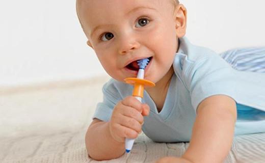 NUK婴儿牙刷组:360度按摩颗粒帮助乳牙萌发,德国原装进口