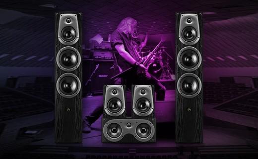 惠威D50F落地式2.0音响:三分频设计,声学波导号角声场宏大
