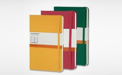 Moleskine笔记本:无酸纸内页,意大利进口品质